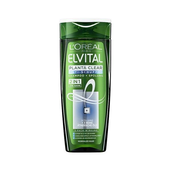 LOreal Elvital Sampon anti-matreata, 250 ml, 2 in 1 Planta Clear pentru par normal [0]