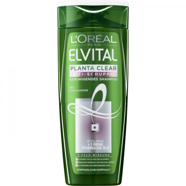 LOreal Elseve Sampon anti-matreata, 250 ml, 2 in 1 Planta Clear pentru par sensibil [0]