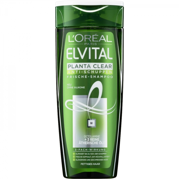 LOreal Elseve Sampon anti-matreata, 400 ml, 2 in 1 Planta Clear pentru par gras [0]