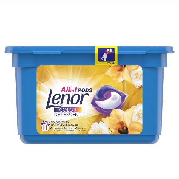 Lenor Detergent Capsule All in 1 PODS, 11 buc, Color Gold Orchid [0]