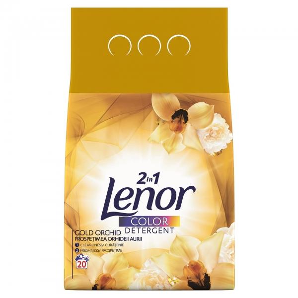 Lenor Detergent automat, 2 kg, 20 spalari, Color Gold Orchid [0]
