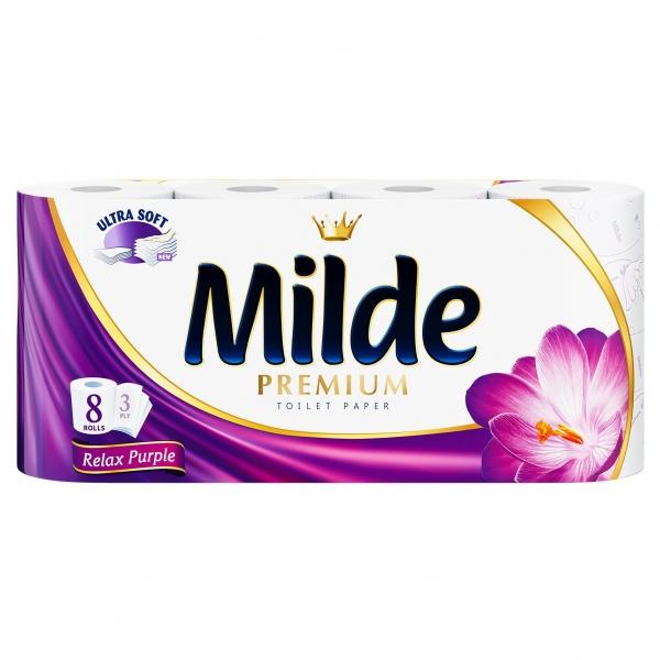Milde Relax Purple Hartie igienica, 3 straturi, 8 role [0]