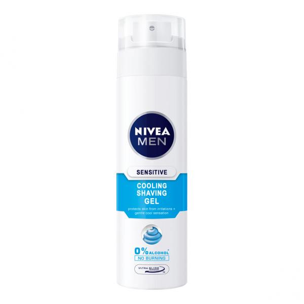 Nivea Gel de ras, 200 ml, Sensitive Cooling [0]