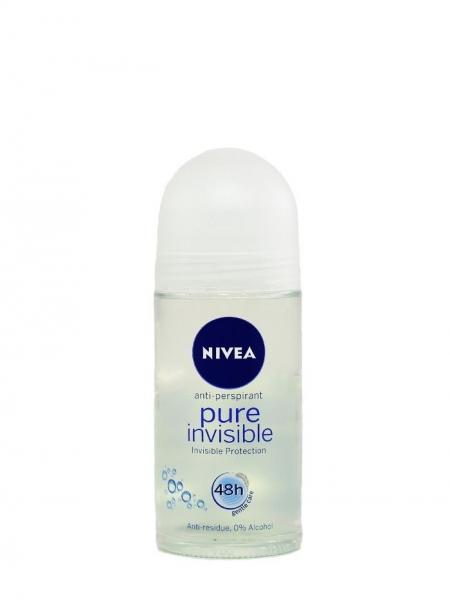 Nivea Deodorant Roll-on, Femei, 50 ml, Pure Invisible [0]