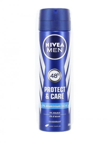 Nivea Deodorant spray, Barbati, 150 ml, Protect & Care [0]