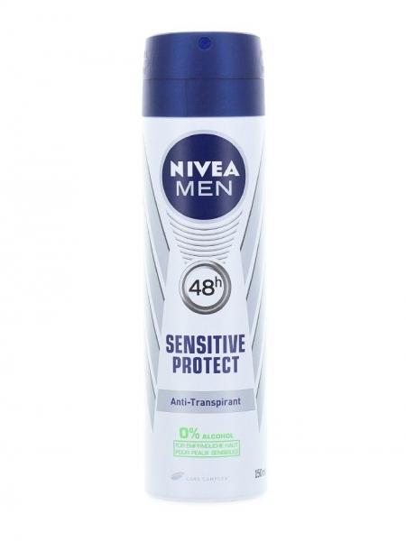 Nivea Deodorant spray, Barbati, 150 ml, Sensitive Protect [0]