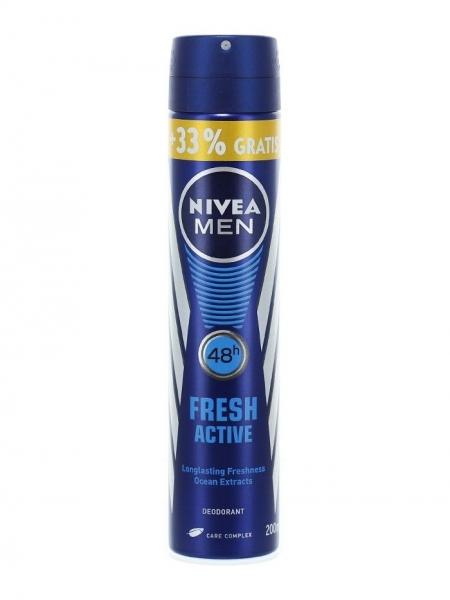 Nivea Deodorant spray, Barbati, 200 ml, Fresh Active [0]