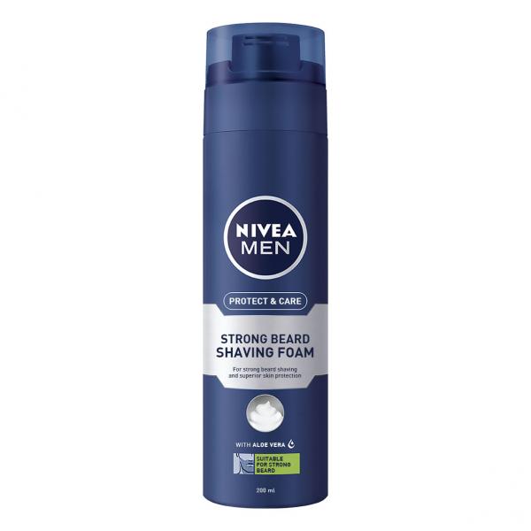 Nivea Spuma de ras, 200 ml, Protect and Care pentru barba aspra [0]