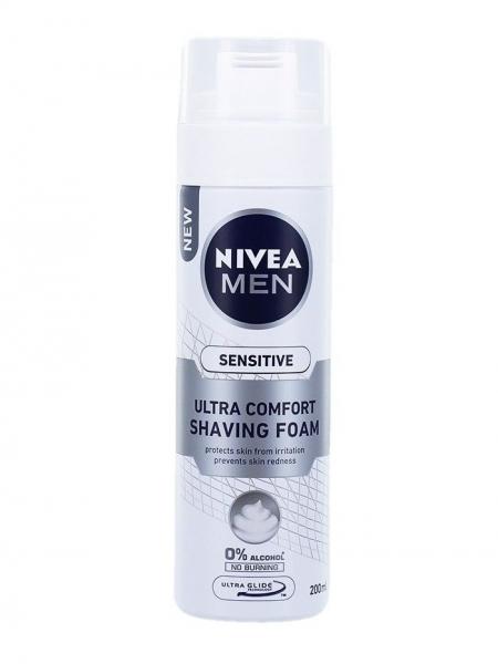 Nivea Spuma de ras, 200 ml, Sensitive Ultra Comfort [0]