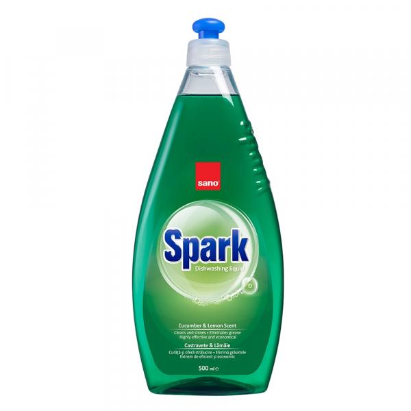 Sano Detergent pentru vase, 500 ml, Spark Castravete [0]