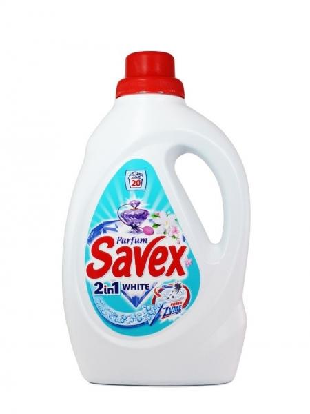 Savex Detergent lichid, 1.3 L, 20 spalari, 2in1 White Powerzyme [0]
