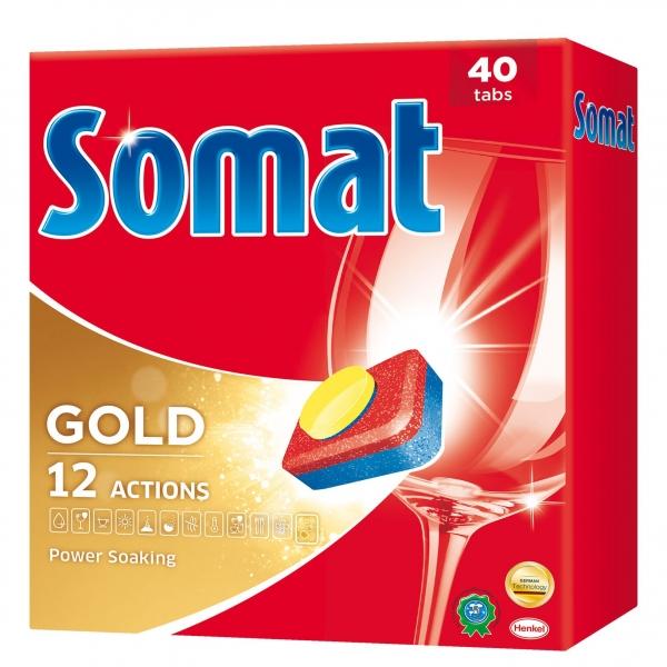 Somat Tablete pentru masina de spalat vase, 40 buc, Gold [0]