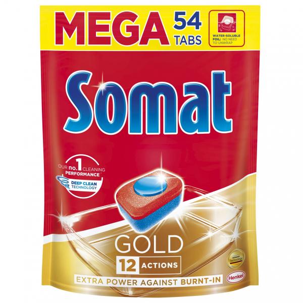 Somat Tablete pentru masina de spalat vase, 54 buc, Gold [0]