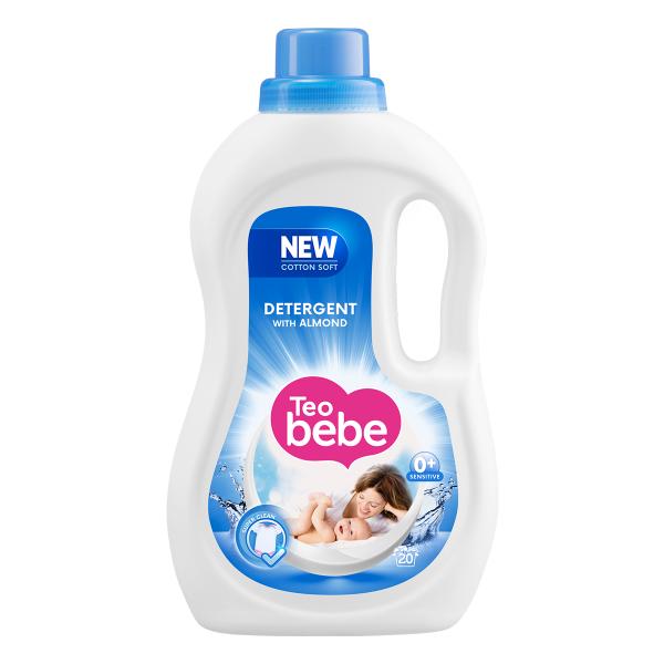 Teo Bebe Detergent lichid, 1.1 L, 20 spalari, Cotton Soft Almond [0]