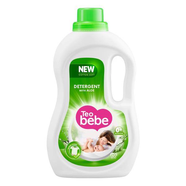 Teo Bebe Detergent lichid, 1.1 L, 20 spalari, Cotton Soft Aloe [0]