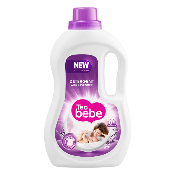 Teo Bebe Detergent lichid, 1.1 L, 20 spalari, Cotton Soft Lavender [0]