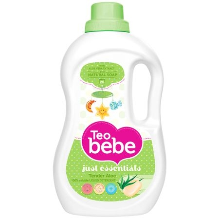 Teo Bebe Detergent lichid, 1.3 L, 20 spalari, Just Essentials Aloe Vera [0]