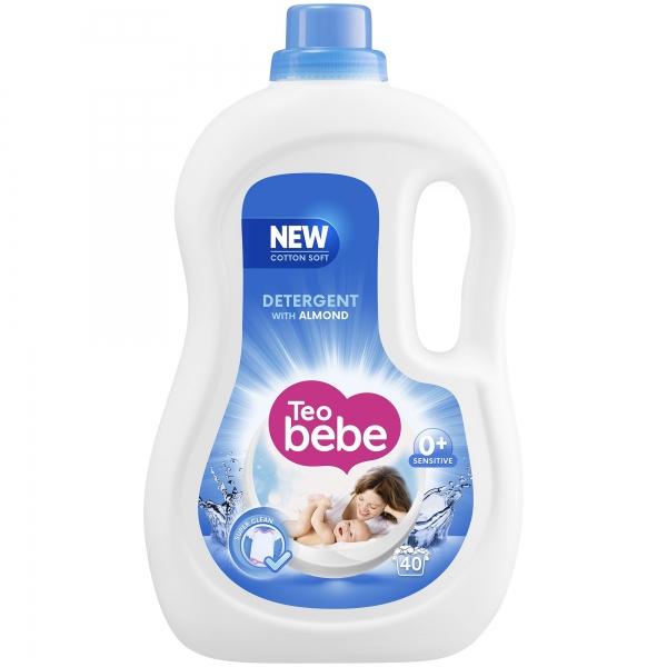 Teo Bebe Detergent lichid, 2.2 L, 40 spalari, Cotton Soft Almond [0]