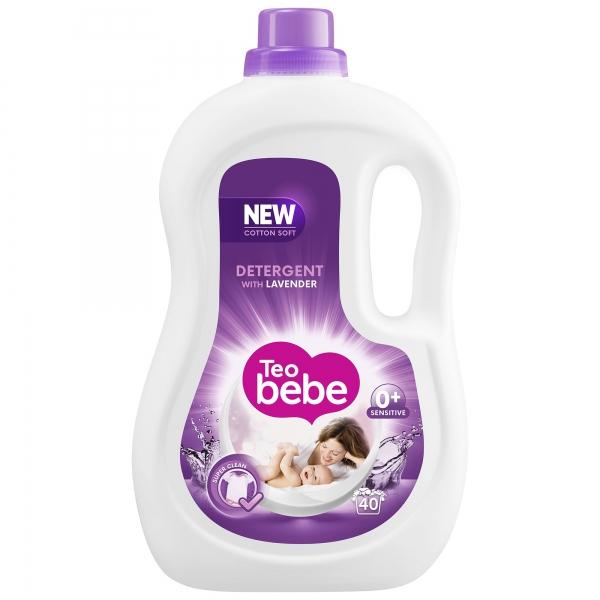 Teo Bebe Detergent lichid, 2.2 L, 40 spalari, Cotton Soft Lavender [0]