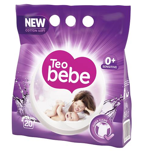Teo Bebe Detergent pudra, 1.5 kg, 20 spalari, Cotton Soft Lavender [0]