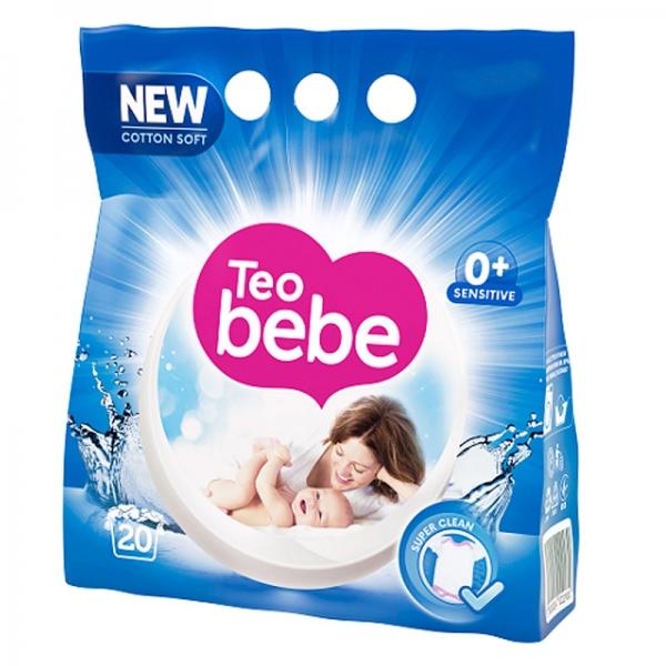 Teo Bebe Detergent pudra, 1.5 kg, 20 spalari, Cotton Soft [0]