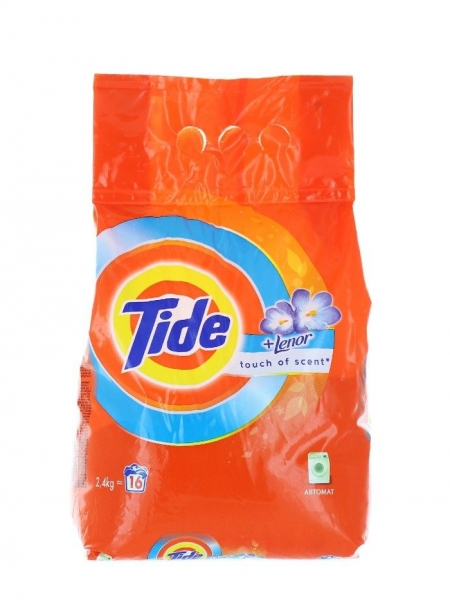 Tide Detergent automat, 2.4 kg, 16 spalari, Touch of Lenor [0]