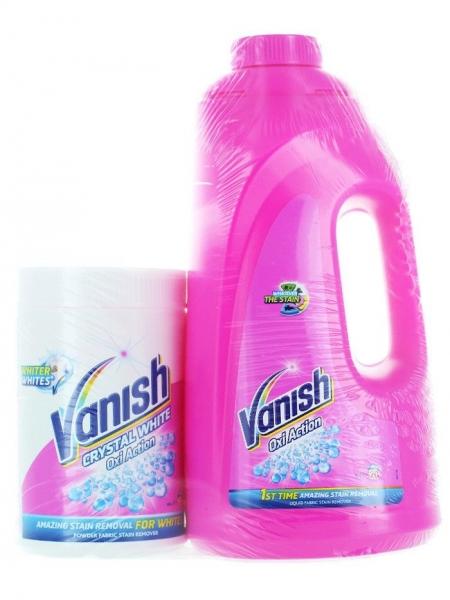 Vanish Detergent indepartare pete, 2 L, Oxi Action + Vanish Pudra, 665 g, Crystal White [0]