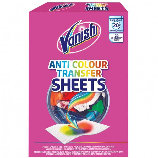 Vanish Servetele anti-transfer de culoare, 20 buc [0]