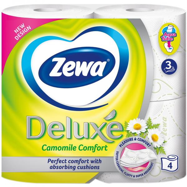 Zewa Camomile Comfort Hartie igienica, 3 straturi, 4 role [0]