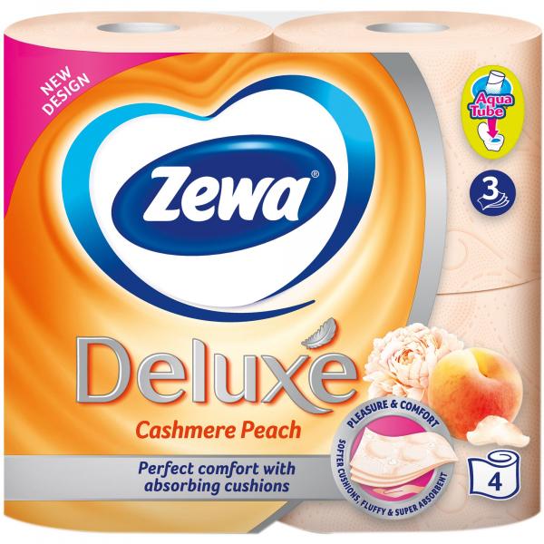 Zewa Cashmere Peach Hartie igienica, 3 straturi, 4 role [0]