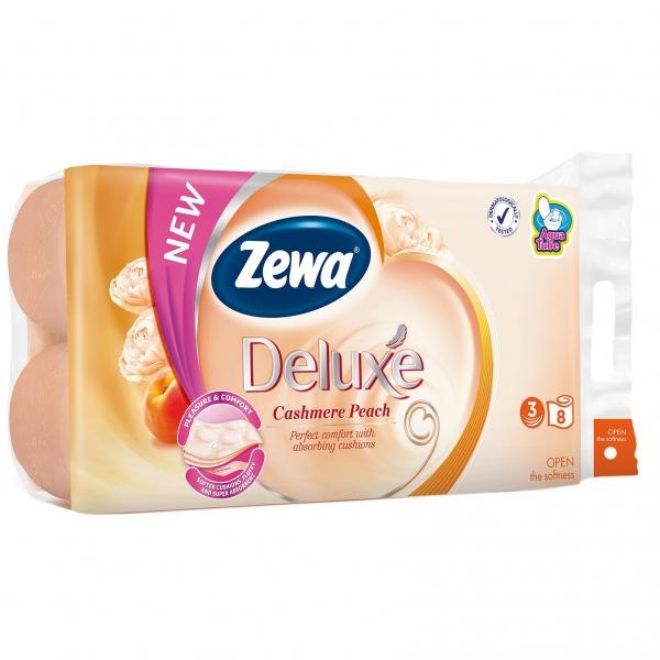 Zewa Cashmere Peach Hartie igienica, 3 straturi, 8 role [0]