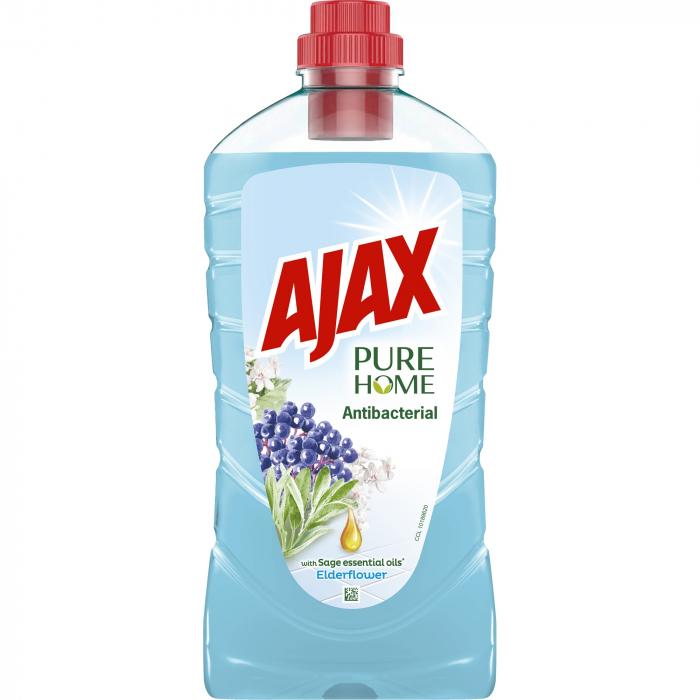 Ajax Detergent Pardoseli, 1L, Antibacterial Elderflower [0]