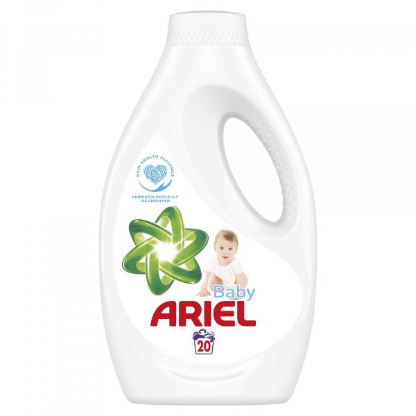 Ariel Detergent lichid, 1.1L, 20 spalari, Baby [0]