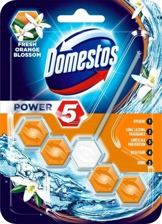 Domestos Odorizant WC cu bile, 55 g, Power 5 Fresh Orange Blossom [0]