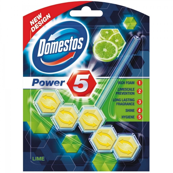 Domestos Odorizant WC cu bile, 55 g, Power 5 Lime [0]