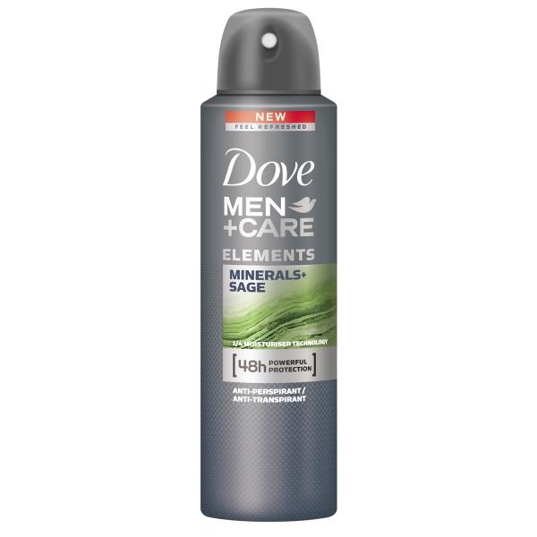 Dove Deodorant spray, Barbati, 150 ml, Men Care Elements Minerals Sage [0]