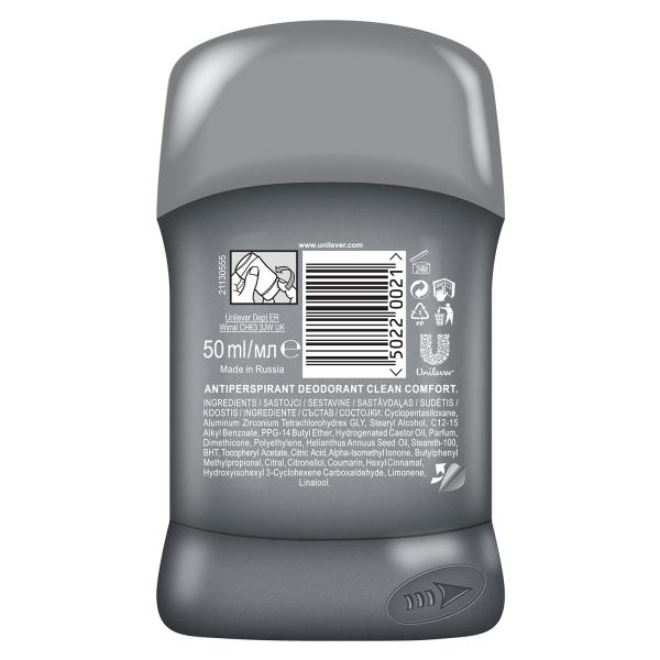 Dove Deodorant stick, Barbati, 50 ml, Men Care Clean Comfort [1]