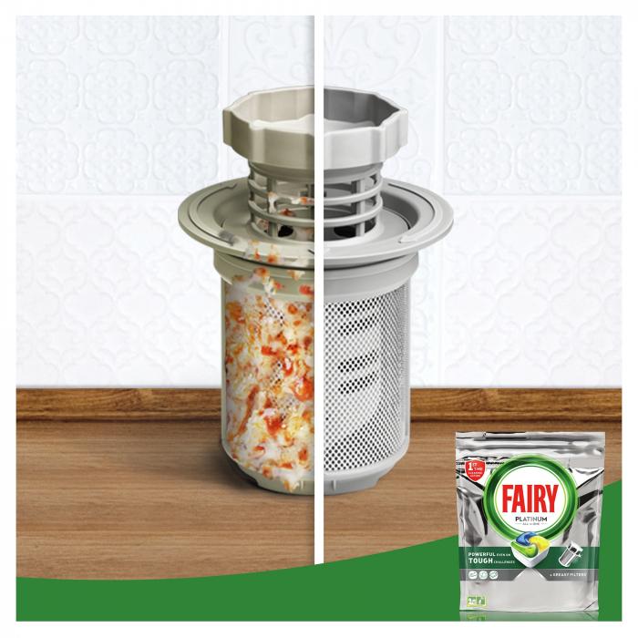 Fairy Detergent pentru masina de spalat vase, 100 capsule, Platinium [2]