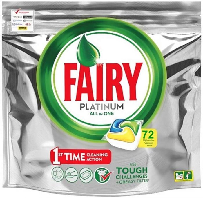Fairy Detergent pentru masina de spalat vase, 72 capsule, Platinium [0]