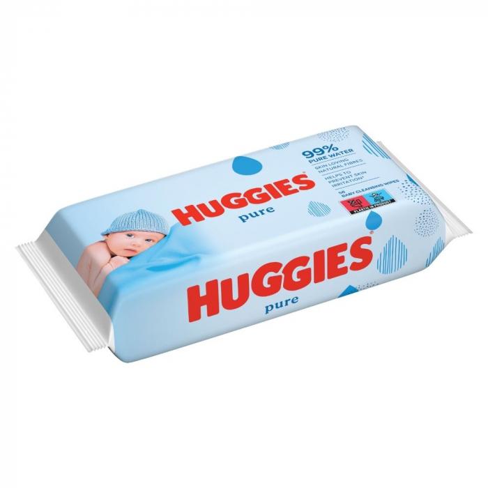 Huggies Servetele umede, 56 buc, Pure [0]