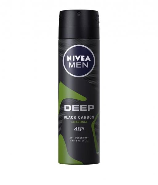 Nivea Deodorant spray, Barbati, 150 ml, Deep Black Carbon Amazonia [0]