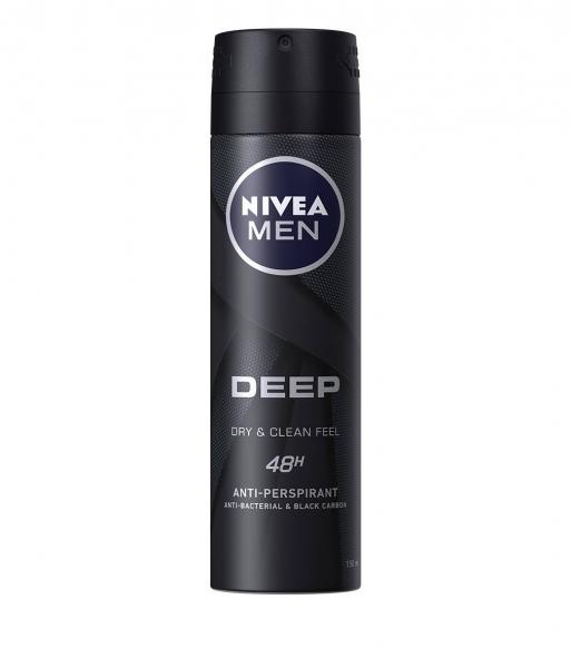 Nivea Deodorant spray, Barbati, 150 ml, Deep Dry and Clean Feel [0]
