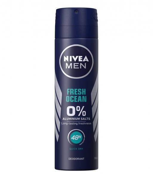 Nivea Deodorant spray, Barbati, 150 ml, Fresh Ocean - 0 percent Aluminium Salts [0]