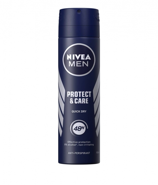 Nivea Deodorant spray, Barbati, 150 ml, Protect and Care [0]