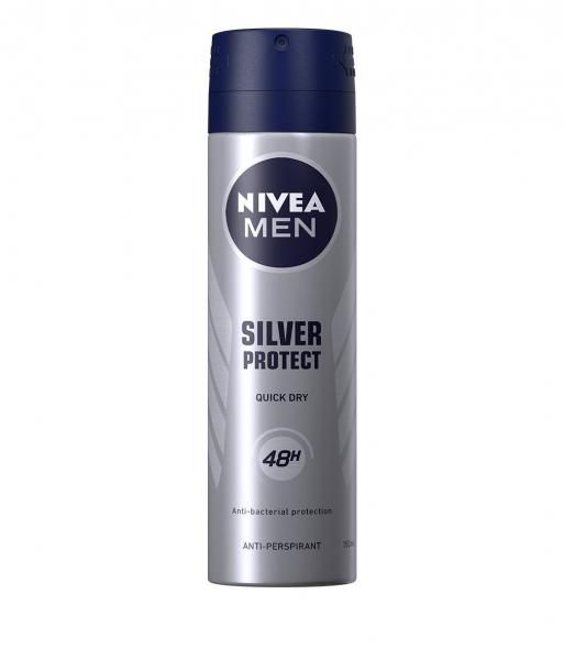 Nivea Deodorant spray, Barbati, 150 ml, Silver Protect [0]