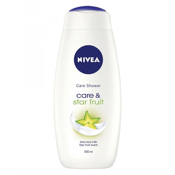Nivea Gel de dus, 500 ml, Care and Star Fruit [0]