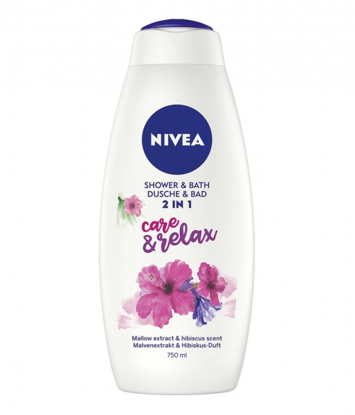 Nivea Gel de dus, 750 ml, 2in1 Care and Relax [0]