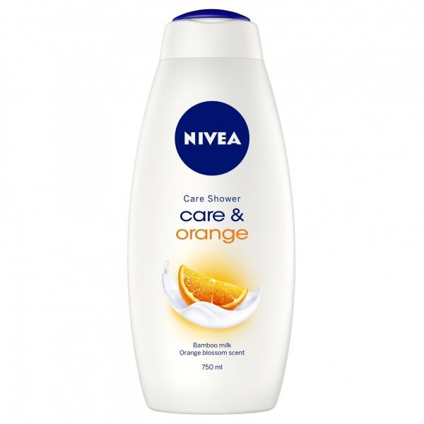 Nivea Gel de dus, 750 ml, Care and Orange [0]