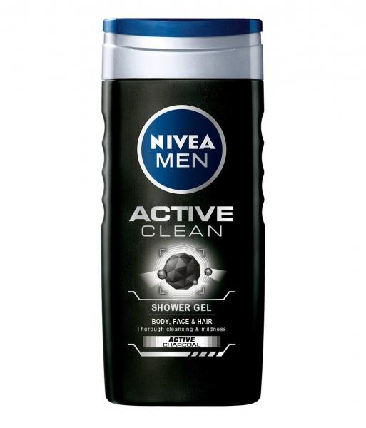 Nivea Gel de dus, Barbati, 250 ml, Active Clean [0]