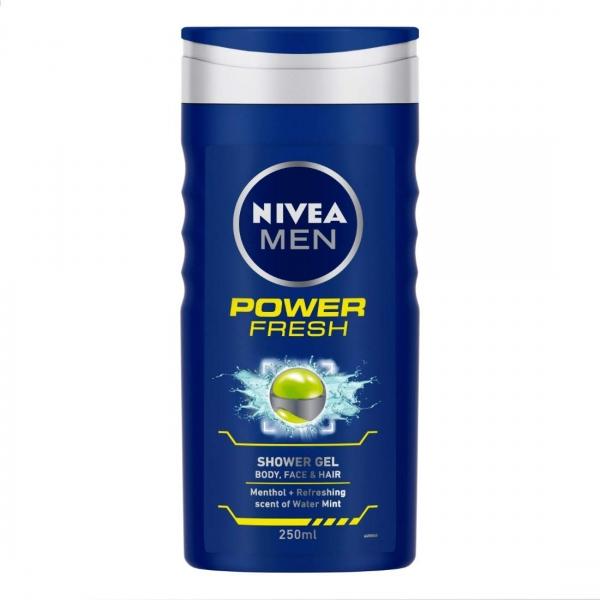 Nivea Gel de dus, Barbati, 250 ml, Power Fresh [0]